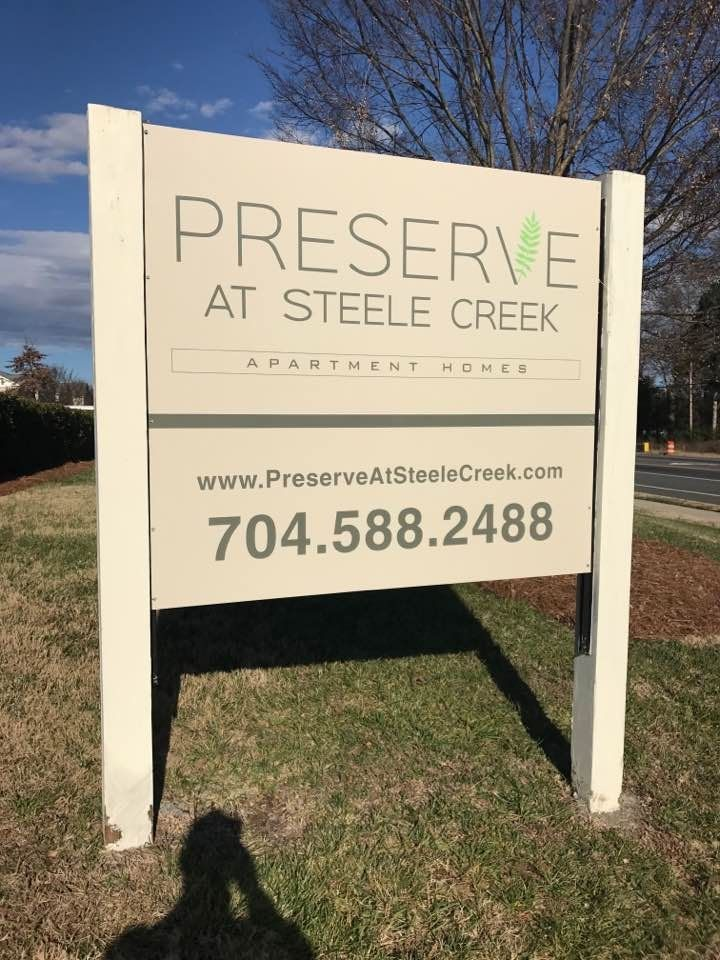 New Alumabond Panels for the Post & Panel Signs at The Preserve at Steele Creek in Charlotte; by JC SIgns Charlotte! #exteriorsigns #signscharlotte