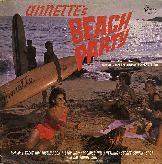 Annette's Beach Party 1963 - fun summer watch &  would love this framed : ) great print/ picture