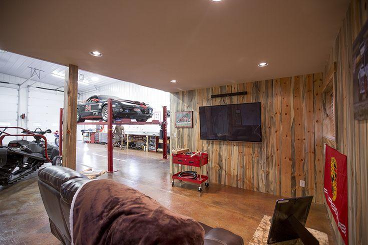 Morton Buildings garage interior in Jackson, Wyoming.