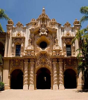 Casa del Prado, Balboa Park, San Diego, CA.  We went to Balboa Park about once a month growing up.  It was THE place to go for my family.  My parents took me so often as a baby, I took my first steps in the Park.