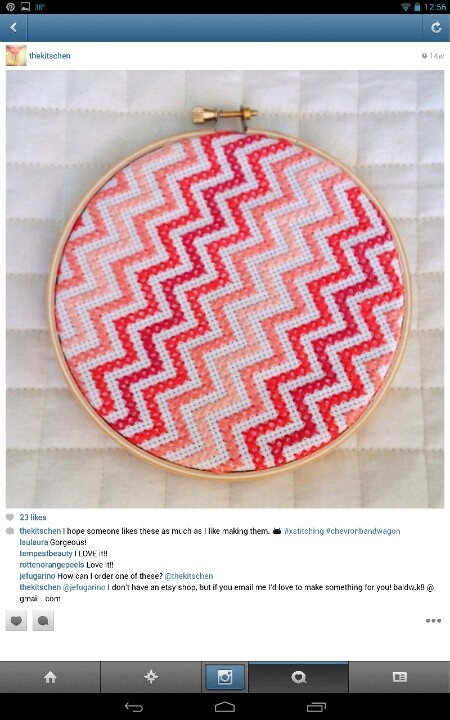 thekitschen on instagram - chevron cross stitch