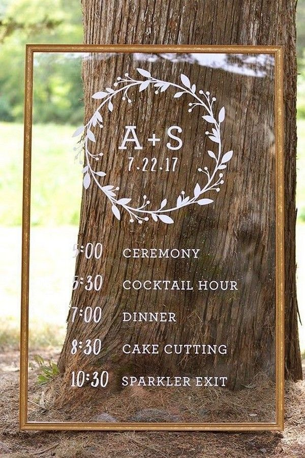 Top 20 Order Of The Day Timeline Wedding Signs Wedding Timeline Wedding Signs Acrylic Sign