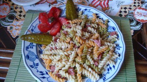 Zapečené nezapečené těstoviny s rostlinným párkem - Powered by @ultimaterecipe
