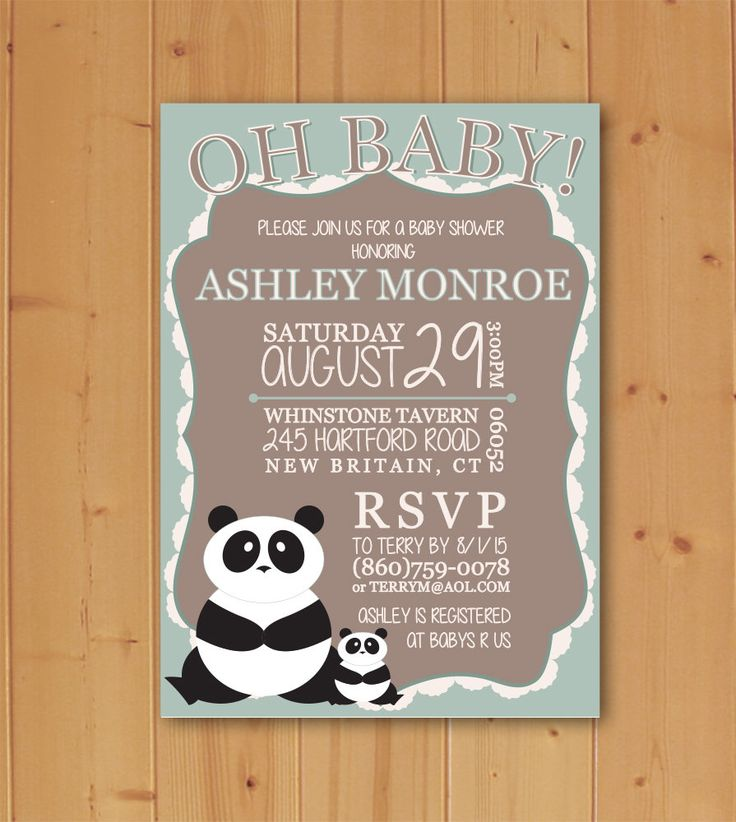 Oh Baby Panda Baby Shower, Panda Baby Shower, Panda Invitation, Baby Shower Invitation, Electronic File, Downloadable Invitation by JMCustomInvites on Etsy https://www.etsy.com/listing/246972105/oh-baby-panda-baby-shower-panda-baby