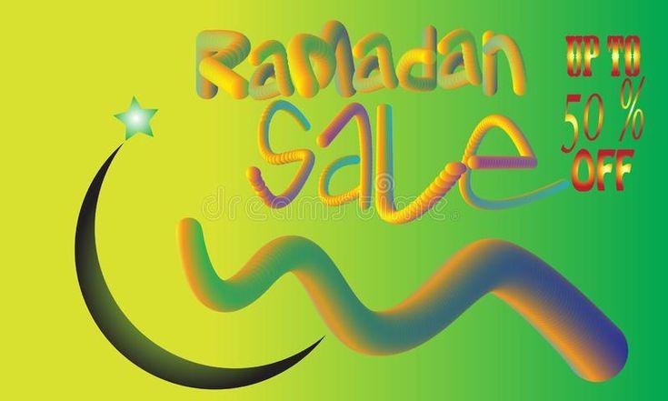 Ramadan Sale banner template design, Big sale special up to 50 off. vector illu …