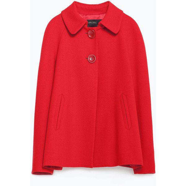 Zara Blazer With Back Pleat (€92) ❤ liked on Polyvore featuring outerwear, jackets, blazers, red, pleated jacket, red jacket, pleated blazer, lined jacket and zara blazer