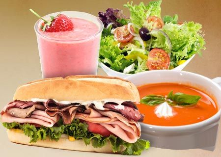 Sandwiches - Salads - Soups - Smoothies