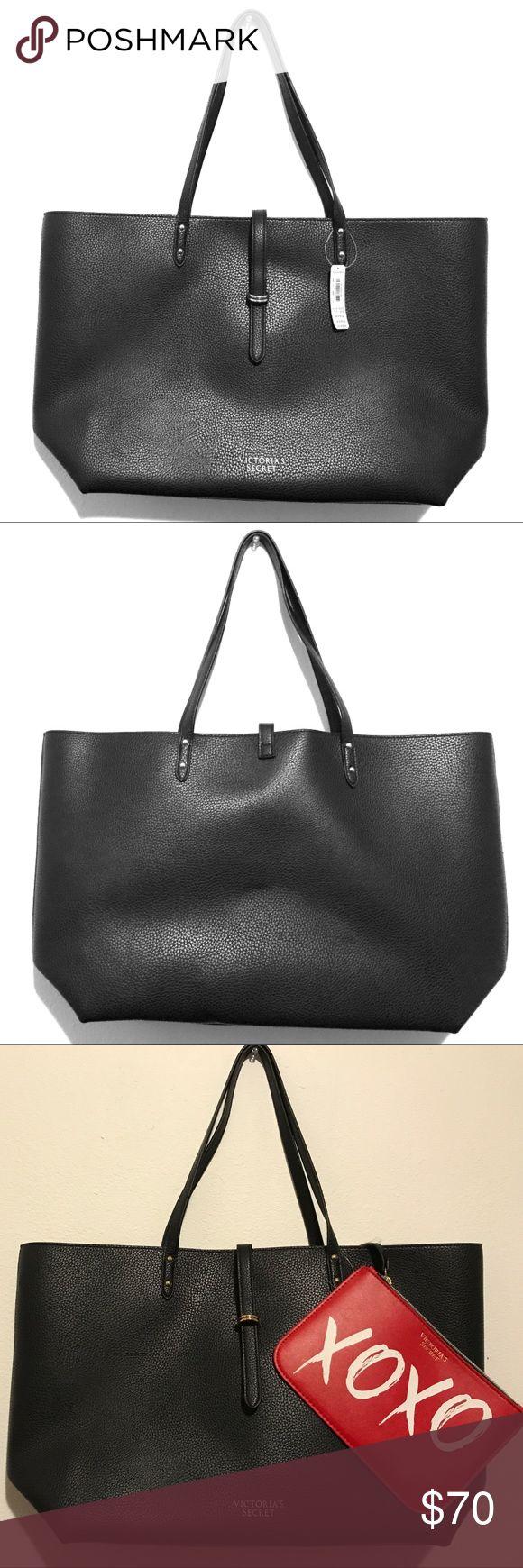 Black Victoria Secret Tote Bag & XOXO Small Bag BRAND NEW! VS Black Tote Bag with gold detailing and red interior. Victoria's Secret Bags Totes