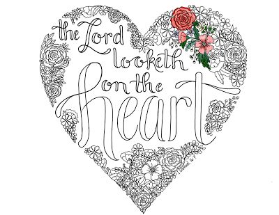 The Lord looketh on the hearth LDS coloring page