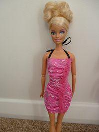 New- Shorter Pink SHIMMERY Dress!!