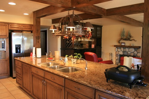 enchanting rustic kitchen cabinets creating glorious natural | Support beam | For the Home | Pinterest | San diego ...