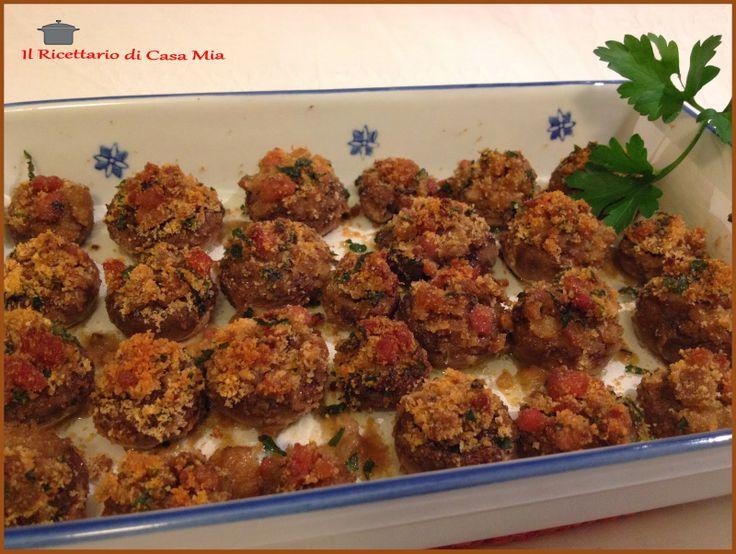 Funghi Ripieni con Pancetta