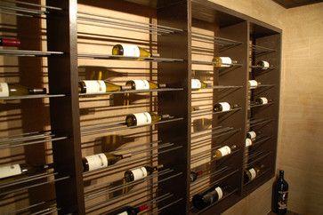 DIY Network's Mega Dens Featuring Specialty Tile Products - contemporary - wine cellar - atlanta - Specialty Tile Products