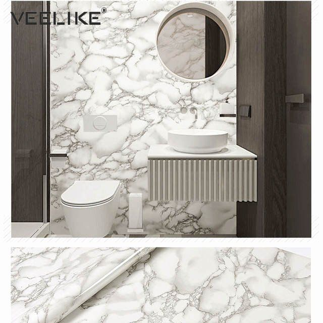 Bathroom Granite Modern Lovely Bathroom Self Adhesive Wallpaper Marble Contact Paper For Kitch Vinyl Shelf Self Adhesive Wallpaper Waterproof Bathroom Flooring