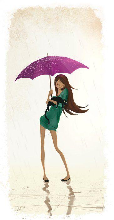 Female Character - In The Rain #character #female #rain