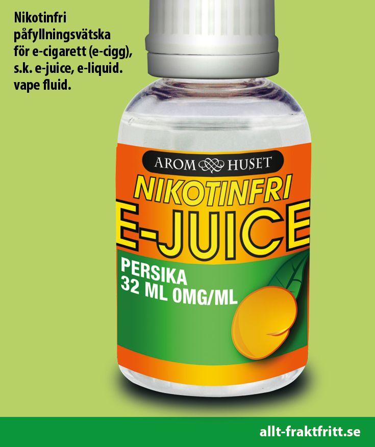 Nikotinfri E-juice Persika 32ML