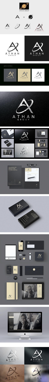 Identidad Corporativa. Athan Group. Eugenia Parra. Diseñado por eugeniaparra.es