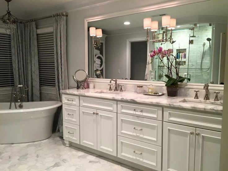 Master bath vanity homecrest cabinetry tuscany maple for Bathroom cabinets knoxville tn