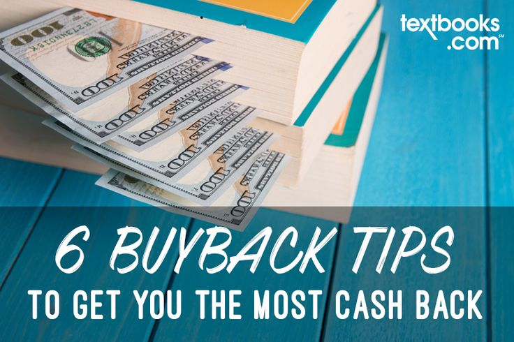 6 #Buyback Tips To Get You the Most Cash Back for Your #Books now up on the blog.   #bookbuyback #textbooks #cashforbooks #sellyourbooks #buybackcash #sellingusedbooks