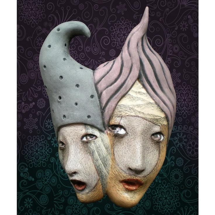 """Magical Mystery Tour""  Ceramic Mask Sculpture  https://www.etsy.com/shop/unmasked"