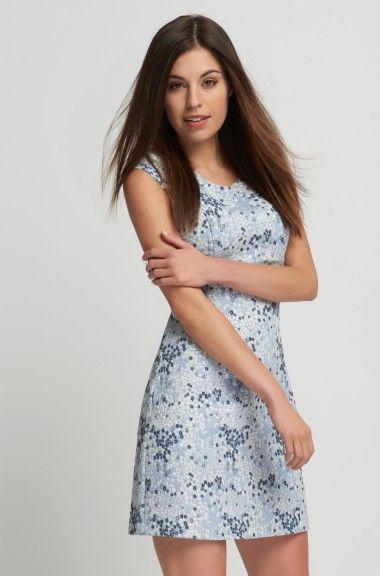 Jacquard trapéz ruha