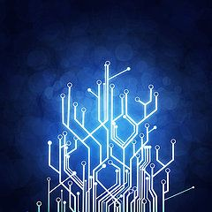 High Tech Posters - Circuit Board Technology Poster by Setsiri Silapasuwanchai