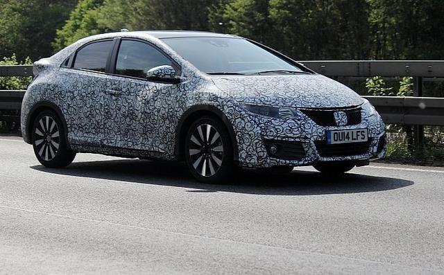 Spy Photos: 2015 Honda Civic Facelift