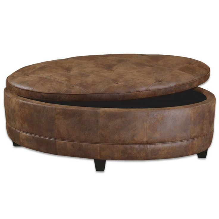 21 Best Images About Ottoman On Pinterest Round Ottoman Leather Ottoman Coffee Table And