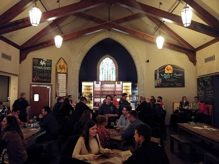 brewery vivant is located in a former funeral home in grand rapids michigan