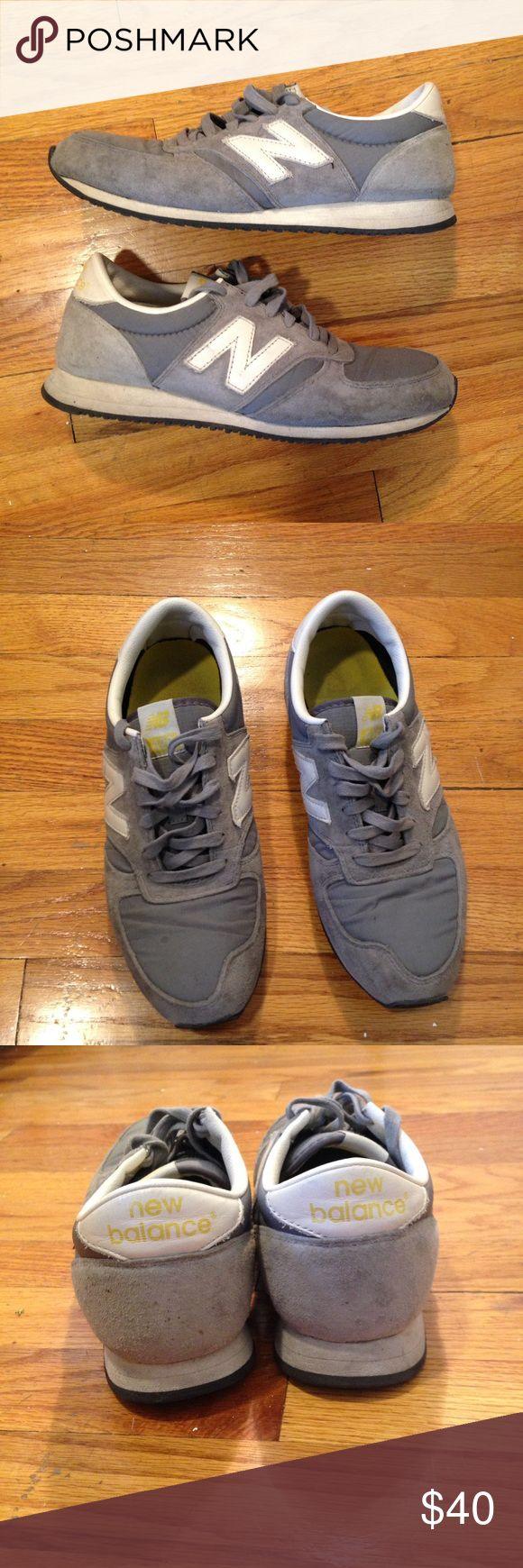 New Balance Sneakers New Balance U420UKG grey/white sneakers with yellow details. Fits a women's 8.5-9. (They're a men's size 8, but I think they run small). Worn, but in good shape! New Balance Shoes Sneakers