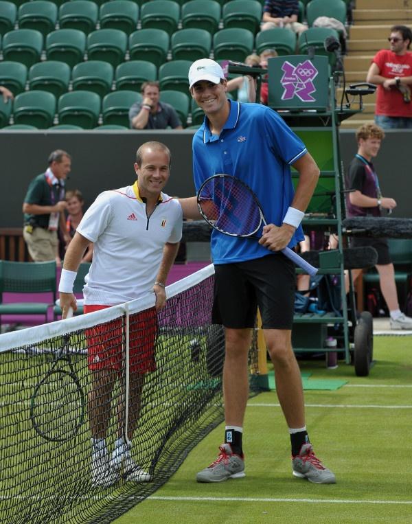 Olivier Rochus and John Isner London 2012