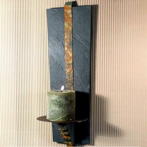 Wall Candle Sconce Pinterest : Lodge Wall Candle Sconce Natural Slate by stonegifts on Etsy, USD 38.50 Crafts Pinterest Nice ...