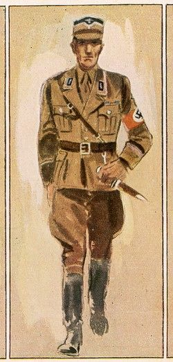 An officer of the STURMABTEILUNG (Storm Detachment, Storm Troopers, SA) which is in essence the private army of the Nazi Party - pin by Paolo Marzioli