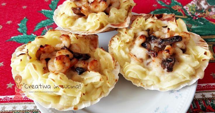 Conchiglie con funghi e scampi, una delizia per il palato!! Per la ricetta >> http://creativaincucina.blogspot.it/2016/01/conchiglie-con-funghi-e-scampi.html Shells with mushrooms and prawns, a treat for the taste buds !! For the recipe >> http://creativaincucina.blogspot.it/2016/01/conchiglie-con-funghi-e-scampi.html