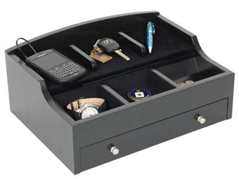 Men S Luxury Electronics Charging Station And Dresser Valet
