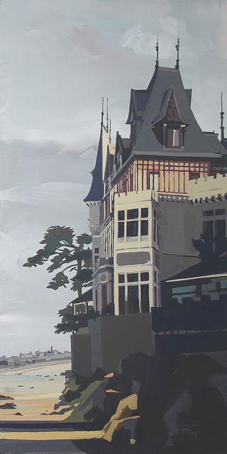 Peinture de Dinard par Michelle Auboiron - La Garde