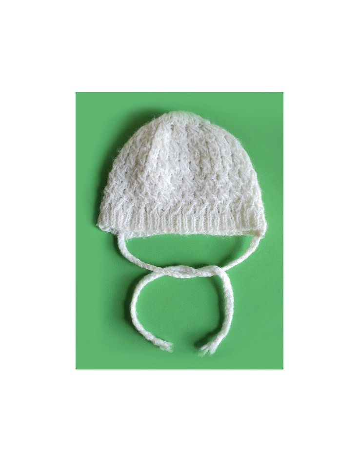 White Wool Cap, Toodler Hat, Hand Knit 40s, Baby Shower Unisex Cap Vintage Hand Made Baby Bonnet, Wooly Hat, Winter Hat, Doll Cap, Beanie