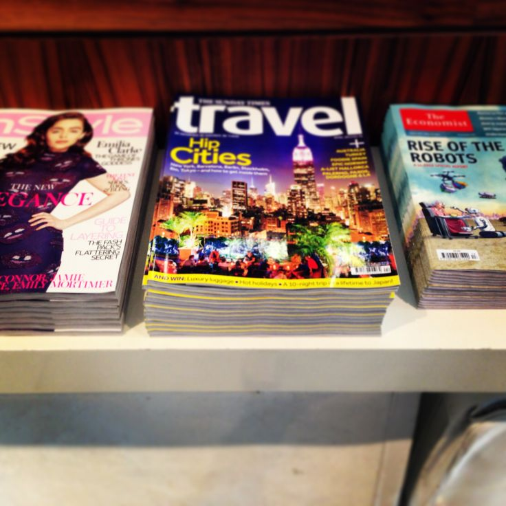 Complimentary magazines and newspapers at No.1 Traveller No1Traveller.com
