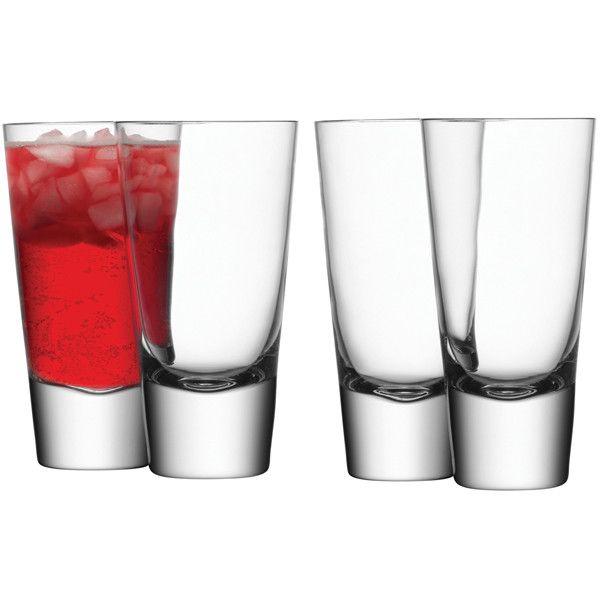 Bar Long Mixer Glass x 4