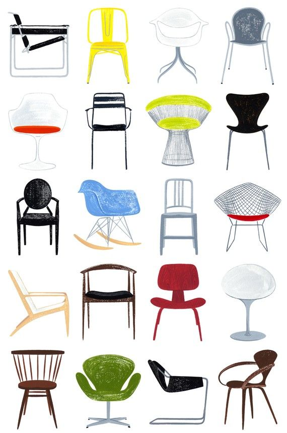 Modern Chairs, 13x19 And 8.5x11, Art Print, Mid Century Modern | Furniture  In | Pinterest | Modern Chairs, Chair And Chair Design
