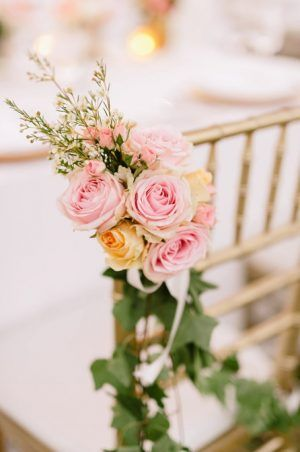 blush pink rose chari decoration ideas