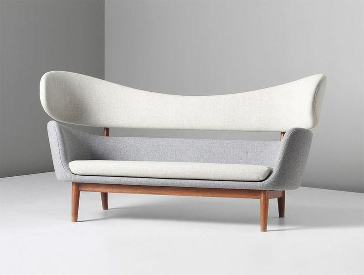 Scandinaviancollectors: U201c FINN JUHL, Baker Sofa, Circa Wool Fabric And  Teak. Produced By Baker Furniture, Inc.