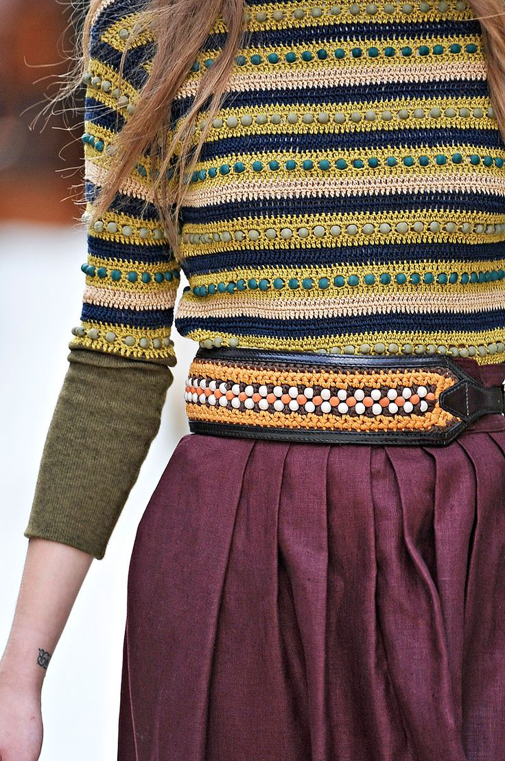 Love the textures and colors together. Burberry Prorsum s/s12