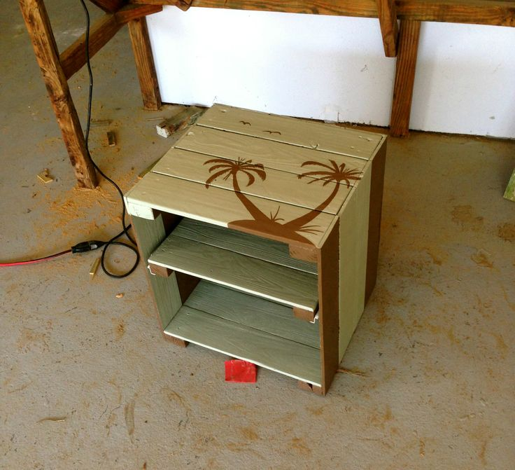 Bedside Table Made From Scrap Wood Off Of A Job Site