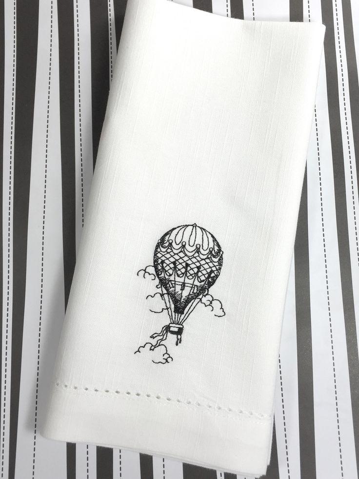 Hot Air Balloon Cloth Napkins - Set of 4 napkins