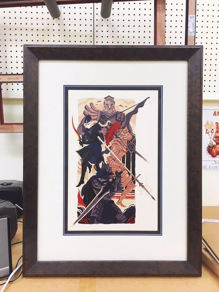 """The Knights of Gwyn"" by Emily Cheeseman.  Tripe mats in an AB bronze San Marino"