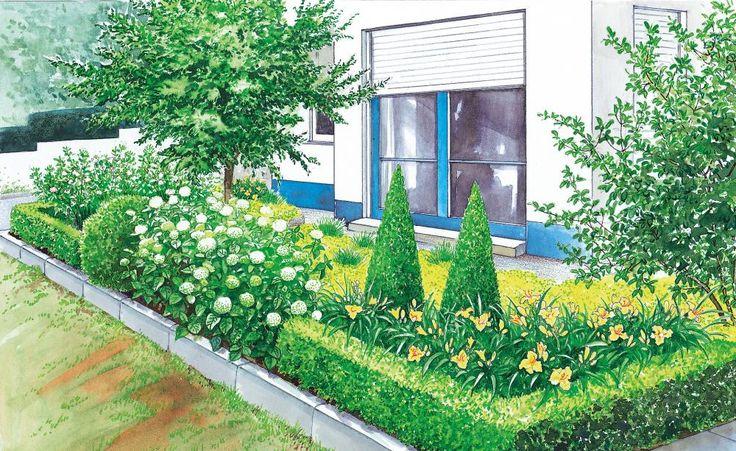 Mein Pflegeleichter Garten :  Gestaltungidee ist ein pflegeleichter Garten mit immergrünen Pflanzen