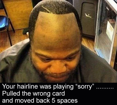 Funny Hairline Jokes