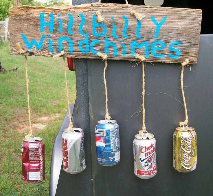 hillbilly crafts | Bouffant Blonde Art: Hillbilly Windchimes