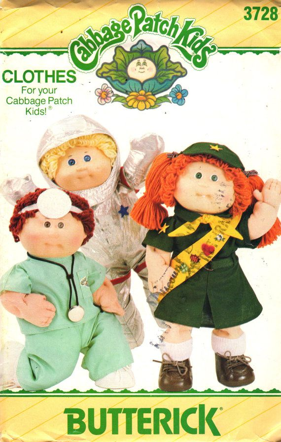 Butterick 3728 401 1980s Cabbage Patch Kids Doll by mbchills